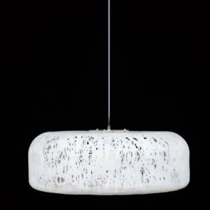 Plafoniera con paralume in materiale plastico termofuso CAKE diametro 700 Bianco