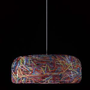 Plafoniera con paralume in materiale plastico termofuso CAKE diametro 700 Multicolor