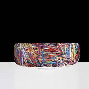 Lampada da appoggio , tavolo con paralume in materiale plastico CAKE Ø70xh25cm Multicolor