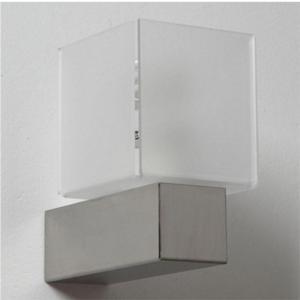 Applique da muro DIDODADO con supporto in acciaio 11x17xh17 cm paralume Bianco Satinato
