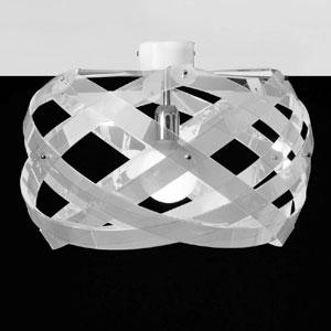 Lampada da soffitto Nuclea piccolo diametro 40 Bianco Satinato