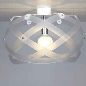 Lampada da soffitto Nuclea Medio Ø53xh30 cm Bianco Satinato