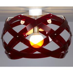 Lampada da soffitto Nuclea Medio Ø53xh30 cm Rosso Trasparente