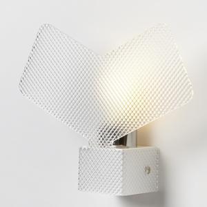 Applique da muro AGAVE 28x8xh22 cm supporto metallo paralume in Spectral