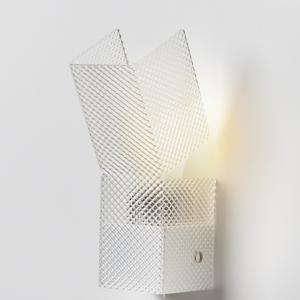 Applique da muro GEA 7.5x14.5xh24 cm supporto metallo paralume in Spectral