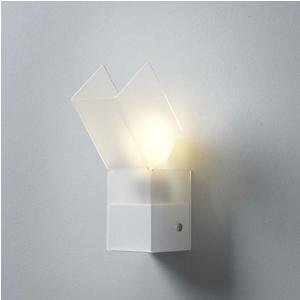 Applique da muro GEA 7.5x14.5xh24 cm supporto metallo paralume in bianco satinato