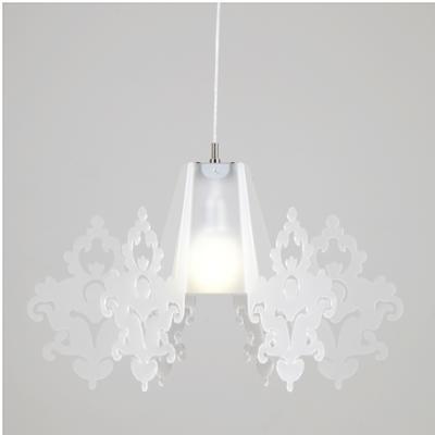 Lampadario a sospensione diametro 70xh44 cm in metacrilato Amarilli max 100 W Bianco Satinato