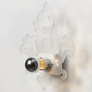 Applique da muro in Metacrilato RAKELE 24.5x8xh32 cm supporto metallo paralume 1xE27 max 15W