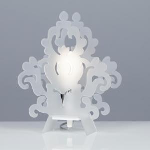 lampada da Tavolo AMARILLI 22x10xh28 cm in metacrilato Colore Bianco Satinato