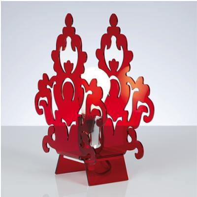 lampada da Tavolo AMARILLI 22x10xh28 cm in metacrilato Colore rosso