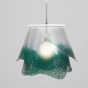 Sospensione con paralume in policarbonato Small ROSA Ø25xh23 cm antiriflesso Verde