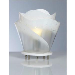 Lampada da tavolo ROSA con paralume in policarbonato antiriflesso Ø 25xh26 cm colore bianco