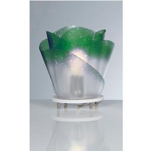 Lampada da tavolo ROSA con paralume in policarbonato antiriflesso Ø 45xh25 cm colore verde