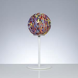 Lumetto da terra alto diametro 19xh44 cm Reload Emporim in materiale plastico termofuso
