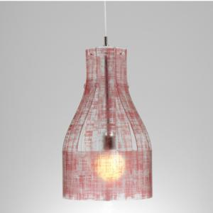 Lampadario a sospensione ATELIER Ø30xh56 cm luce Atelier paralume in policarbonato antiriflesso ROSSO