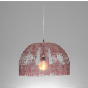 Lampada a sospensione CUPOLONE Ø60xh42 cm con paralume in policarbonato antiriflesso Rosso