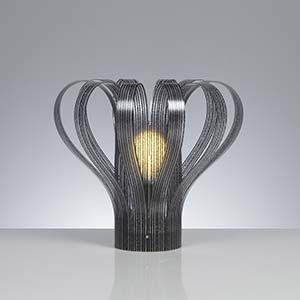 Lampada da tavolo SPUMONE Ø32xh29 cm con Paralume in policarbonato antiriflesso Nero