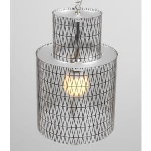 Lampadario a sospensione diametro 33xh56 cm Punto luce Ziggurat con Paralume in policarbonato antiriflesso Nero