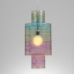 Lampadario a sospensione diametro 33xh65 cm Punto luce Nippon con Paralume in policarbonato antiriflesso Multicolor