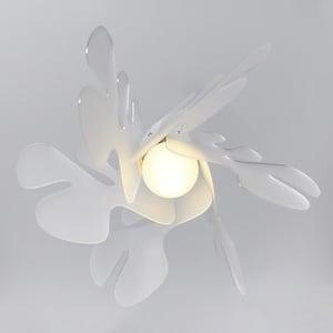 Lampada a Sospensione 55x55h32 cm Aralia in metacrilato Versione Piccola Peso 2.4 kg 30W Bianco Satinato