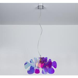 Lampada a Sospensione 55x55h32 cm Aralia in metacrilato Versione Piccola Flash Peso 2.4 kg 30W