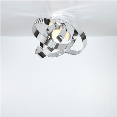 Plafoniera da soffitto in metacrilato Nuvola Ø44xh27 cm colore cromo