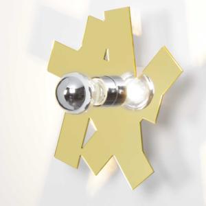 Applique da Muro AKARTIKA H 26 PD 8.5 cm in metacrilato colore oro