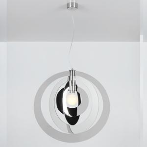 lampada a Sospensione GALILEA Big Ø66xh 68 4 Anelli supporto in Metallo colore cromolite