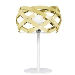 Lampada da Tavolo NUCLEA diametro 40xh58 cm con paralume in metacrilato GOLD
