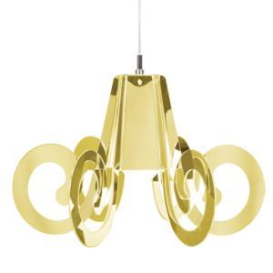 lampada a Sospensione RICCIOLINO diametro 55xH 32 cm in metacrilato colore Oro