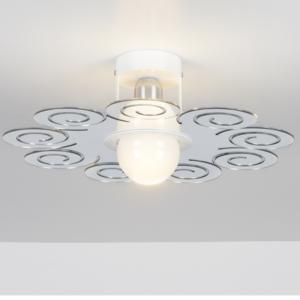 Plafoniera da soffitto RICCY diametro 45xh13 cm Emporium Colore Cromolite