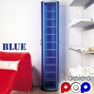 scarpiera pop girevole 40x40xh173 cm in polipropilene 20 paia emporium  portata max 4 kg per ripiano