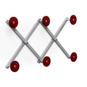 Appendiabiti estensibile richiudibile min 24cm max 54cm XDUE Rosso Trasparente