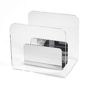 Portariviste in plexiglass ALLO 27x21x24 cm bicolore Cromolite