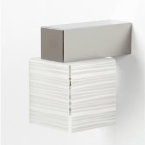 Applique da muro con Paralume DECODADO con supporto in acciaio satinato paralume Righe Bianco