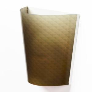 Applique da muro BOEMIA 32x20xh30 cm con paralume in policarbonato serigrafato Verde Trasparente