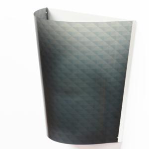 Applique da muro BOEMIA 32x20xh30 cm con paralume in policarbonato serigrafato Grigio Trasparente