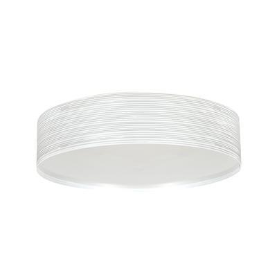 Plafoniera con paralume cilindrico in polipropilene RIGATONE Ø45xh14,4 cm con paralume conico bianco perla