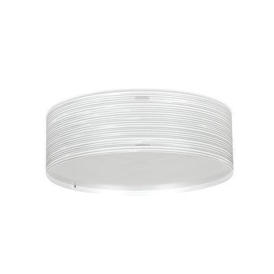 Plafoniera con paralume cilindrico in polipropilene RIGATONE Ø60xh14,4 cm con paralume conico bianco perla