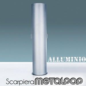 Scarpiera In Metallo ALLUMINO 40x40xh173 cm MetalPop 10 Ripiani estraibili peso 17 kg