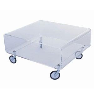 Carrellino tavolinetto Andy 1 56x50xh30 cm in metacrilato con ruote spessore 8 mm