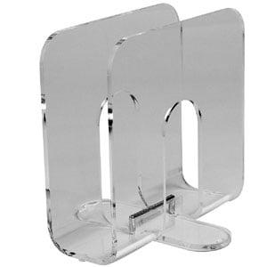 Portariviste 30x20xh30 cm in metacrialto trasparente Flap trasparente
