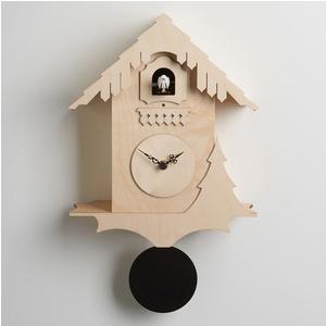 Orologio da Muro a Cucu CHALET 27x12xh44 cm in legno di betulla