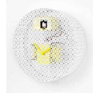 Orologio Da Muro ORAORA Rotondo diametro 32.5 cassa in metallo forato laccato lucido