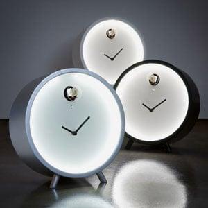 Orologio da tavolo PLEX luce LED con cassa in multistrato di betulla