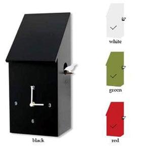 Orologio Cucu da Parete Half Time con cassa in legno laccato designer Christie Bassil 18x14xh35