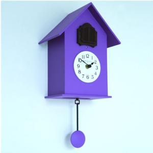 Orologio Cucu da muro in Legno con cassa in legno laccato Colore Viola