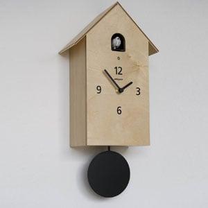 Orologio cucu ZUBA 14,5x10xh30 cm Cassa in Betulla di legno laccato Betulla Naturale