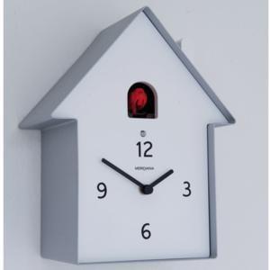 Orologio Cucu in Legno Casa 19.5 x 11 x h26 cassa in metallo verniciato Alluminio