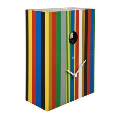 Orologio da parete a Cucu o da Appoggio ARCOIRIS 20x10xh26 cm Cassa in MDF stampata e laccata lucida